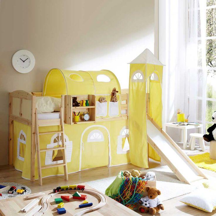 Popular Kinderhochbett mit Rutsche Kiefer Massivholz Jetzt bestellen unter https moebel ladendirekt