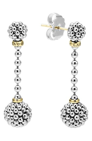 LAGOS Caviar Lattice Ball Drop Earrings available at #Nordstrom