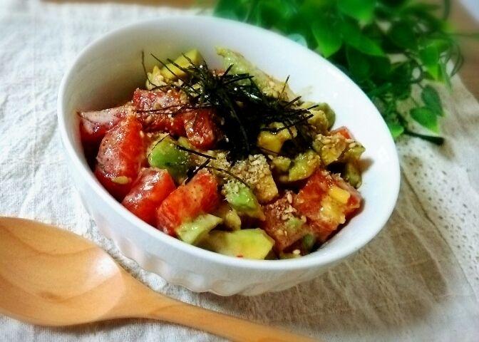 マグロとアボカドのタレ漬け丼♡ランチ♡簡単レシピ | fondant miel 美容♡カフェごはん