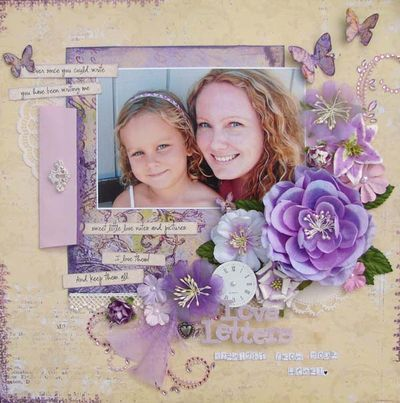 prima design, I love purple and this is a lovely layout.