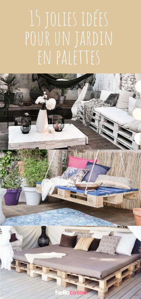 15 inspirations pour un salon de jardin en palettes