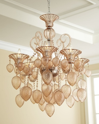 """Blush"" Chandelier in January Home 2013 from Neiman Marcus on shop.CatalogSpree.com, my personal digital mall."