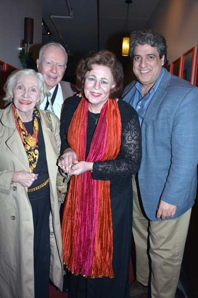 Marilyn Langner and Philip Langner, Sinthea Starr and Frank Basile.  photo by:  rose billings