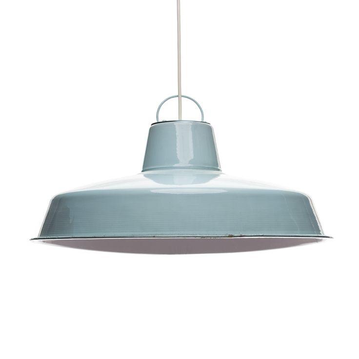 Patinerad industrilampa - Aquamarine