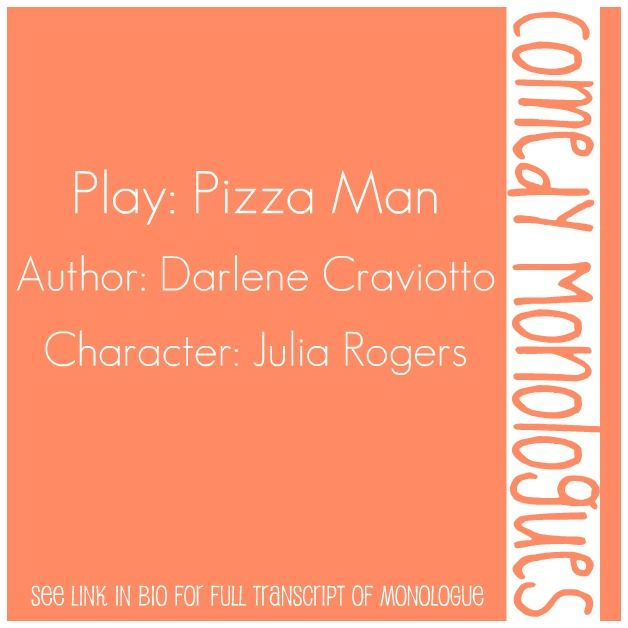Comedic Female Monologue from the play,