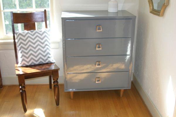 Glossy Gray Mid Century Dresser My Craigslist Seattle Pinterest Hardware Gray And Furniture