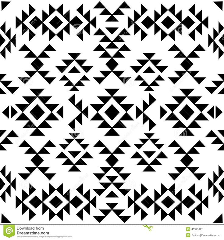 Black And White Native Patterns Google Search Navajo