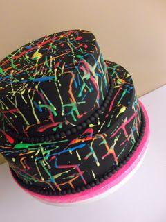 Kiwi Cakes: Fluorescent Graffiti Cake - Tutorial Tuesday