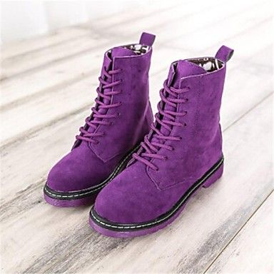 Women's Shoes Combat Boots Flat Heel Mid-Calf Boots More Colors available – USD $ 11.99