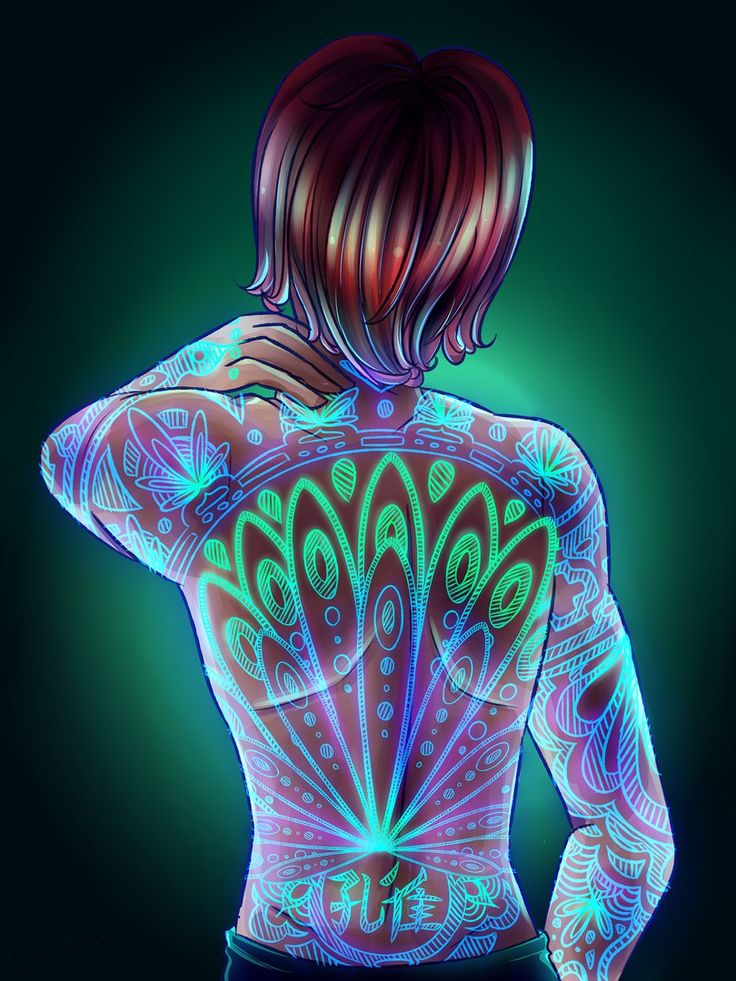 Nathanael with a peacock miraculous tattoo (Miraculous Ladybug)