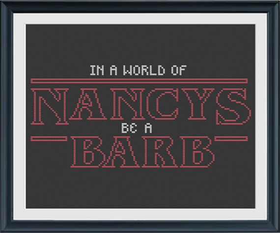 Stranger Things Cross Stitch Pattern INSTANT DOWNLOAD by bosscheck on Etsy https://www.etsy.com/listing/455054630/stranger-things-cross-stitch-pattern