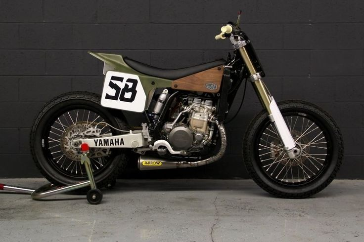 Yamaha WR400F Flat Tracker by Pista Design #motorcycles #flattracker #motos | caferacerpasion.com