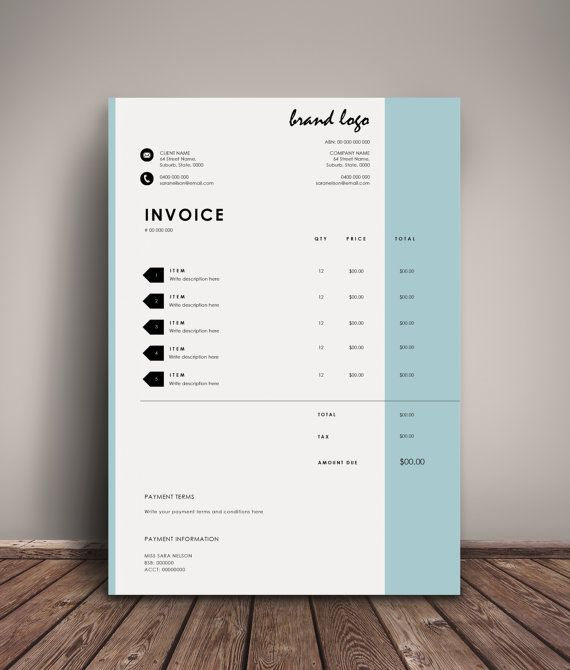 Organise Your Charges With Our Professional And Modern Invoice Design. This  Template Allows You To  Design Your Own Invoice