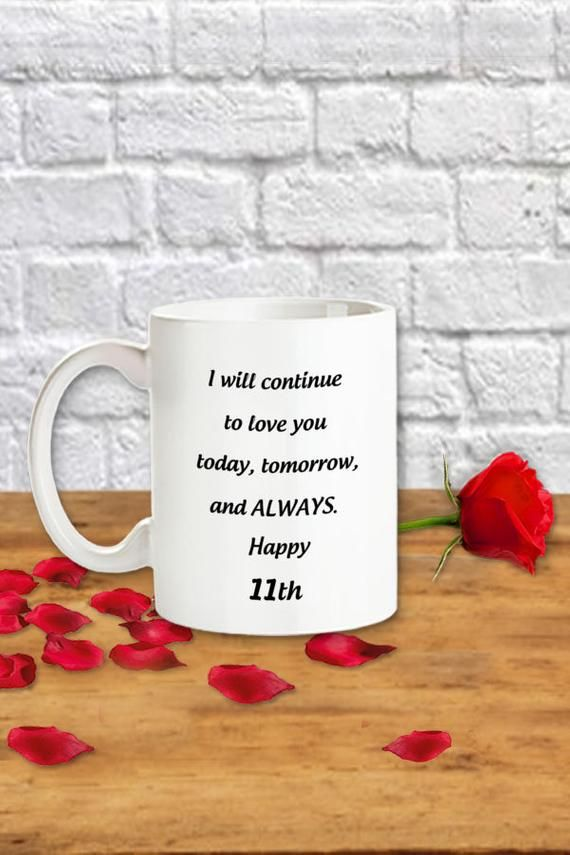 11th Wedding Anniversary Gift 11 Years Steel Anniversary Mug For Her 11 Year Jubilee 11 Yrs Dating Anniversary Romantic Gifts For Him 11th Wedding Anniversary Gift Anniversary Gifts For Wife 49th Anniversary Gifts