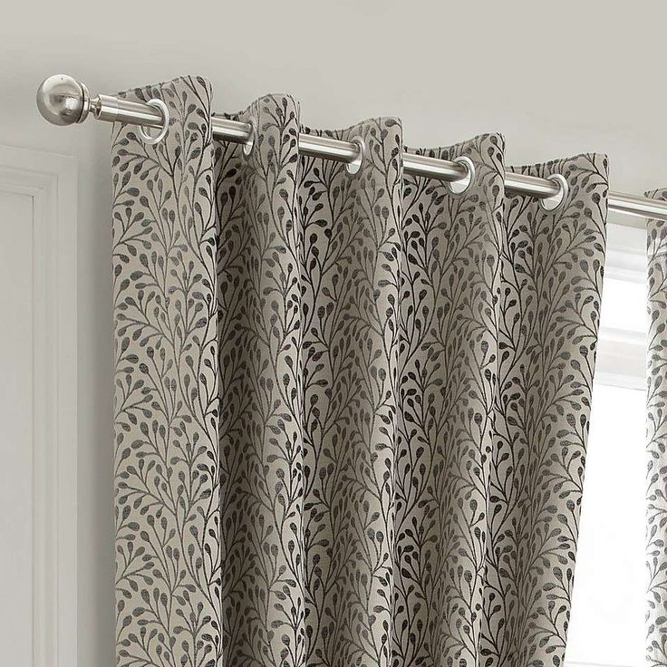 Willow Grey Lined Eyelet Curtains   Dunelm