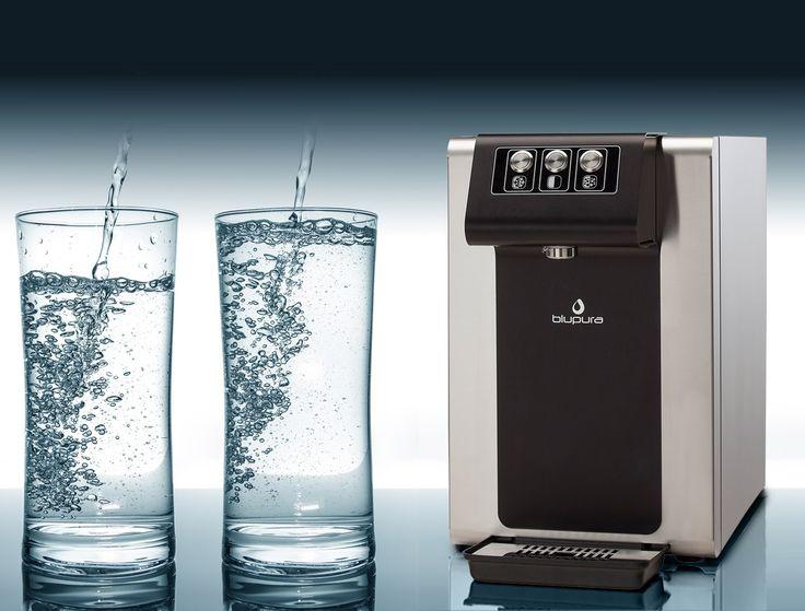 Bezbutlowy dystrybutor wody pitnej Blusoda - podaje wodę w temperaturze pokojowej, chłodzoną oraz gazowaną. #Blusoda #Blupura #dystrybutorwody #wodadlabiura