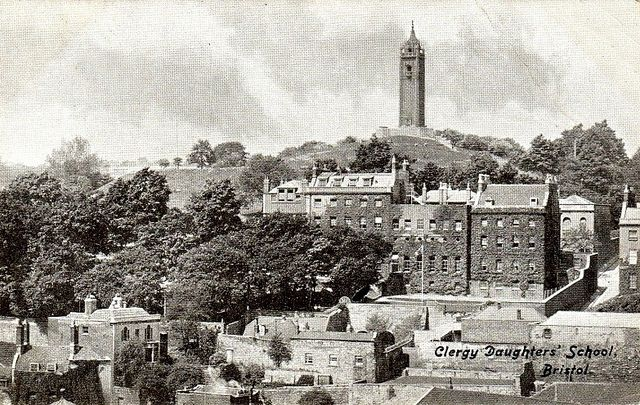 Cabot Tower overlooking parts of Bristol