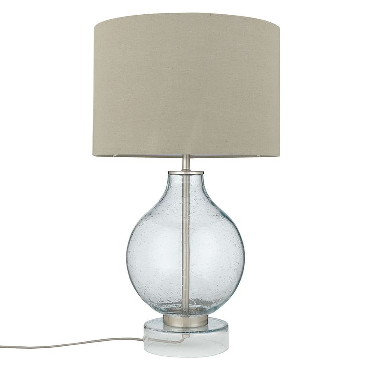 BuyJohn Lewis Croft Collection Selsey Large Table Lamp, Blue Tinted Online at johnlewis.com