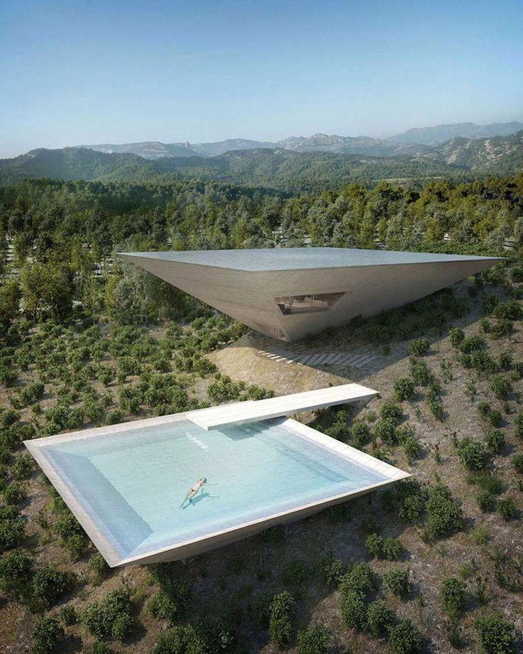 die besten 25 futuristische architektur ideen auf pinterest futuristische stadt moderne. Black Bedroom Furniture Sets. Home Design Ideas