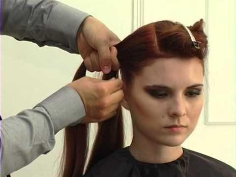 Видео урок, вечерняя прическа на очень длинные волосы с плетением. - YouTube
