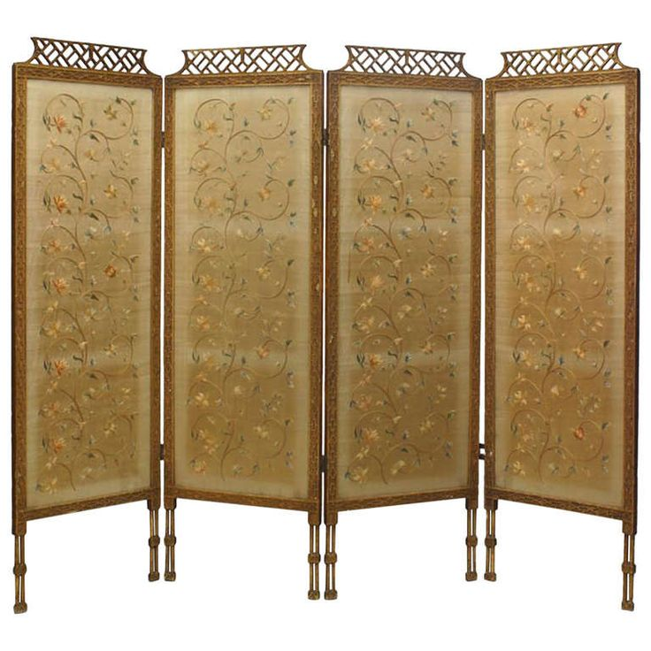 chinese chippendale folding screen