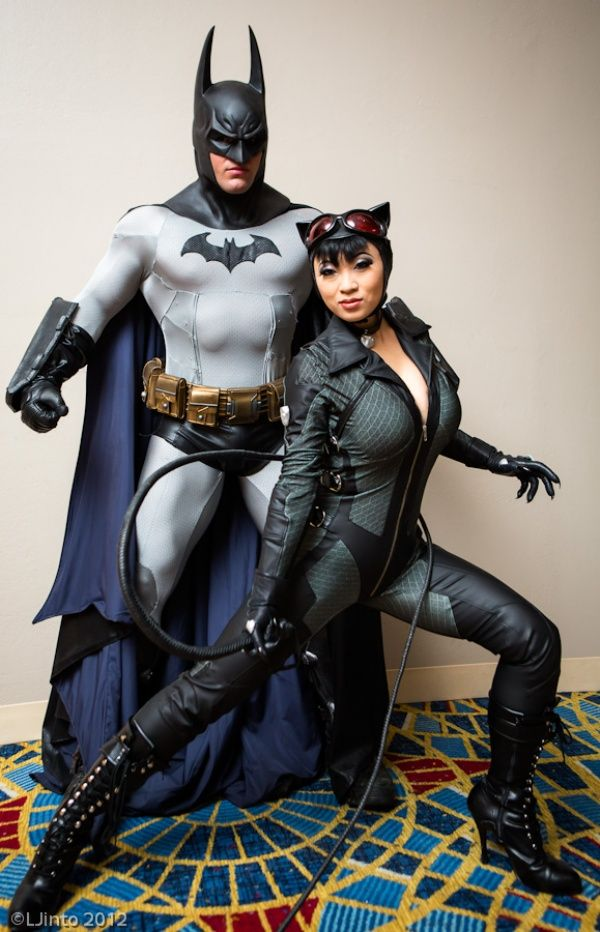 Awesome Batman and Catwoman Cosplay. She even looks like the current model of catwoman!