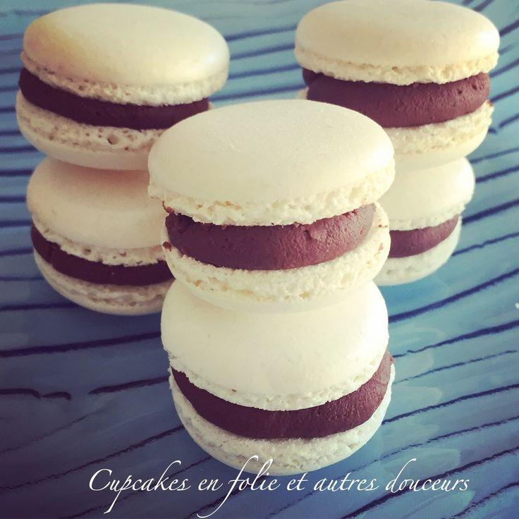 Macarons chocolat noir/coco