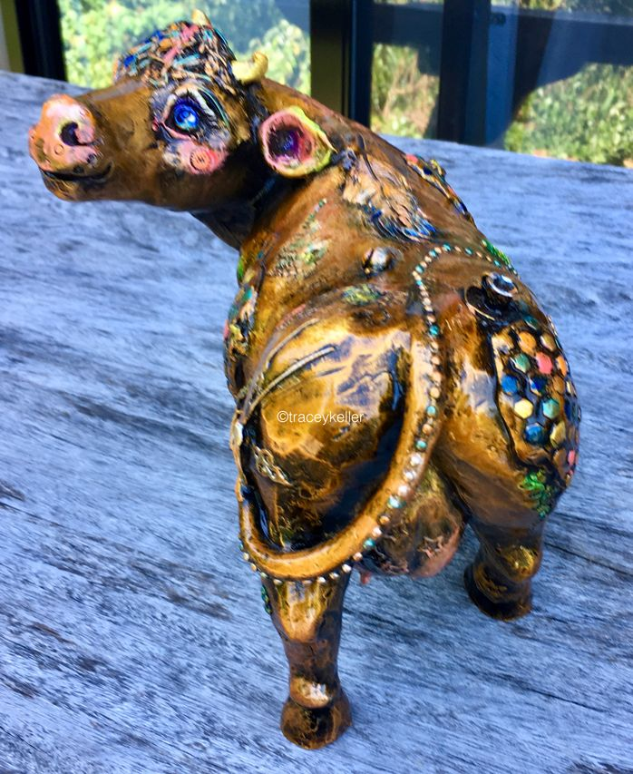 Does My Bottom Look Big In This? Edition 6 | Tracey Keller BRONZE Cow Sculpture