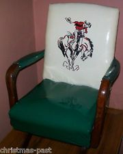 VINTAGE CHILDu0027S COWBOY ROCKING CHAIR