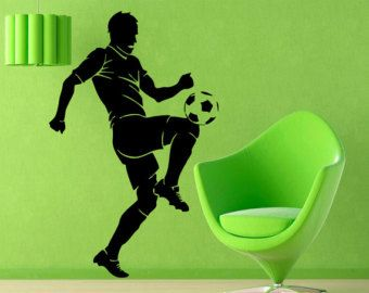 Soccer Wall Decals Man Football Player Decal by WallDecalswithLove