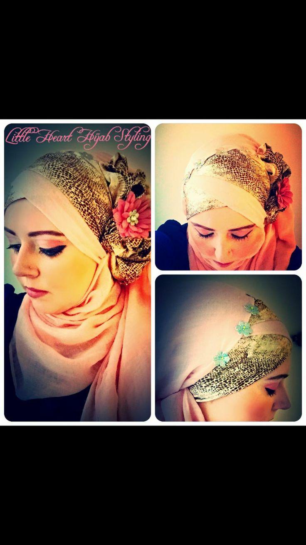 Side flower hijab style