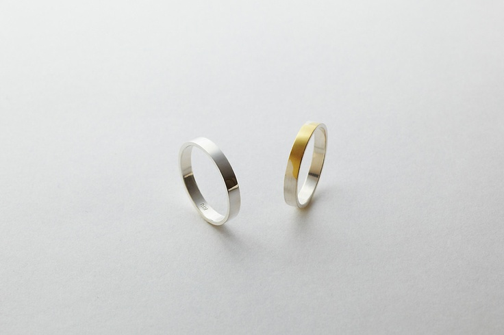 silver to gold ring.Gold Wedding Rings, Thin Layered, Gold Weddings, Deux Poisson, Gold Rings, Wedding Bands, Gallery Deux, Time Shared, Torafu Architects