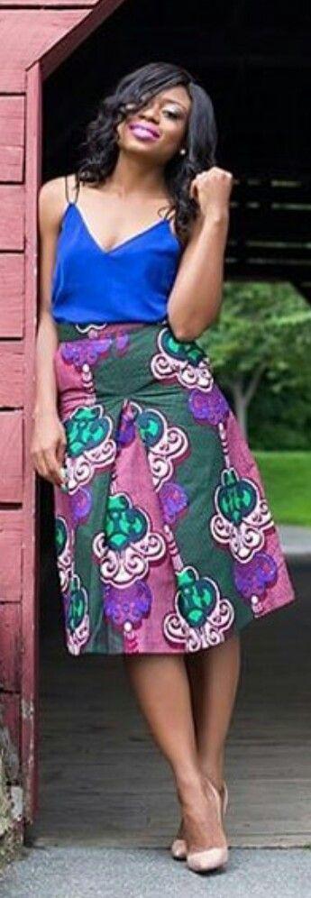 ♡AttollClothiers Primrose Skirt ~African fashion, Ankara, kitenge, Kente, African prints, Senegal fashion, Kenya fashion, Nigerian fashion, Ghanaian fashion ~DKK