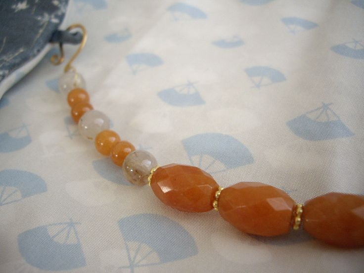 Orange haori himo, Beaded kimono jewelry, Gems bracelet, 2 ways Kimono accessory, Gift for Kimono lover, Japanese gift, Orange aventurine by WAYOKO on Etsy