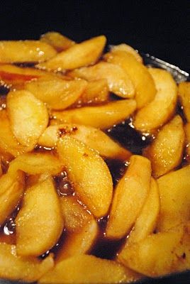 Cast Iron Skillet Fried Apples...best served with sausage and buttermilk biscuits.