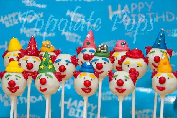 circus cakes   Circus clown cake pops   Popolate