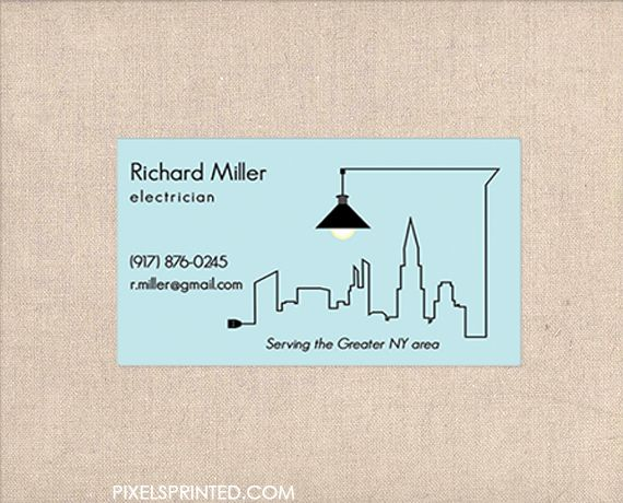 Handyman Business Cards Contractor Electrician