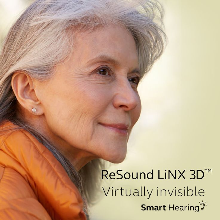 Virtually invisible. ReSound LiNX 3D hearing aids are so dis- creet and comfortable that your family, friends, and colleagues notice only you.