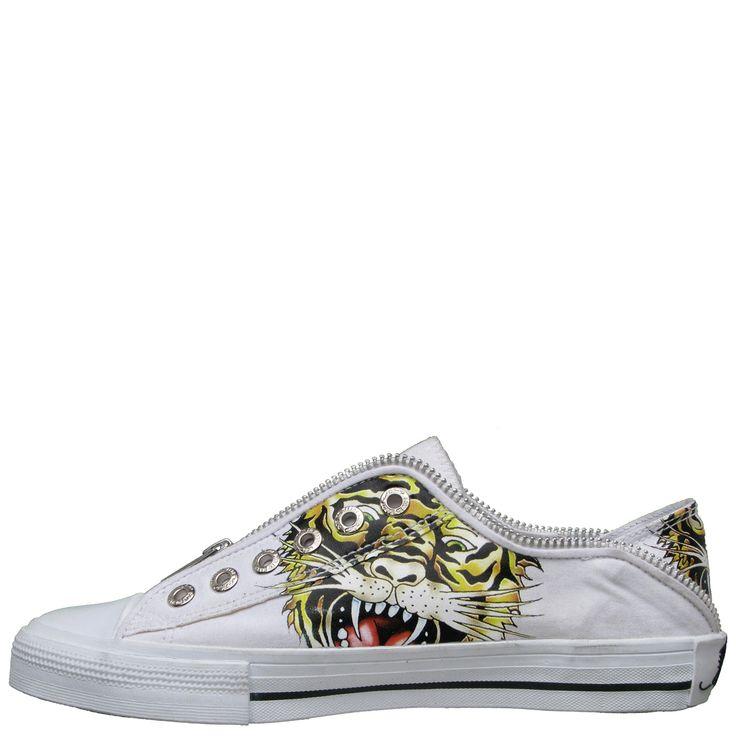 Ed Hardy Lowrise Bronx Shoe for Kids - White - Yvonne's #shoes