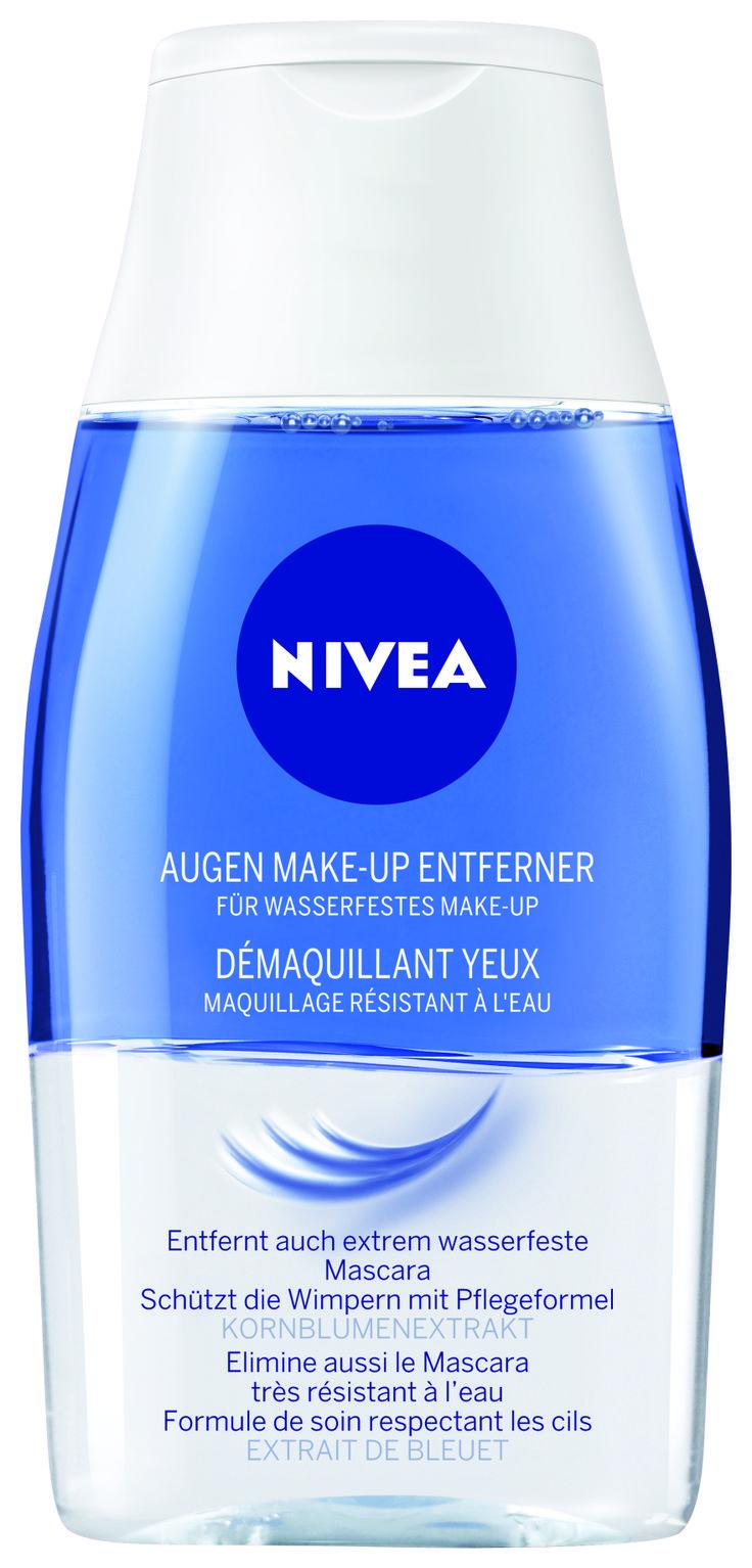 Die 2-Phasen Formel entfernt auch extrem wasserfestes Make-up. | La formule 2 phases fait disparaître même le maquillage extrêmement waterproof.  #nivea #face #gesicht #visage #soins #pflege