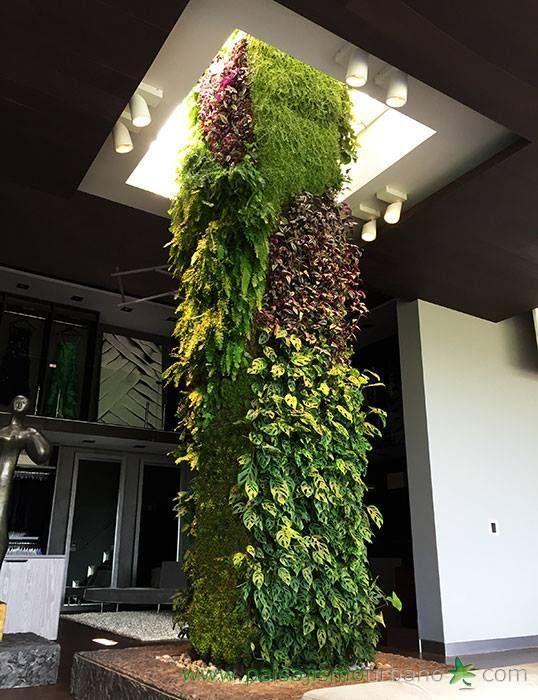 M s de 25 ideas fant sticas sobre muros verdes en - Jardines verticales interior ...