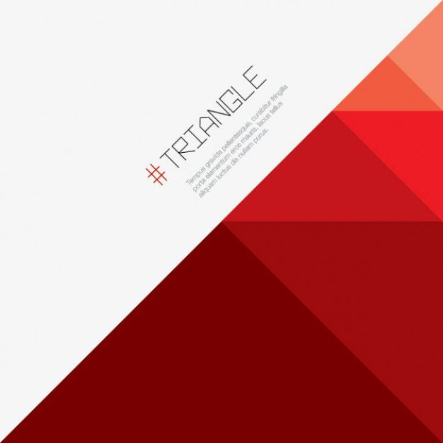 Triangle red background