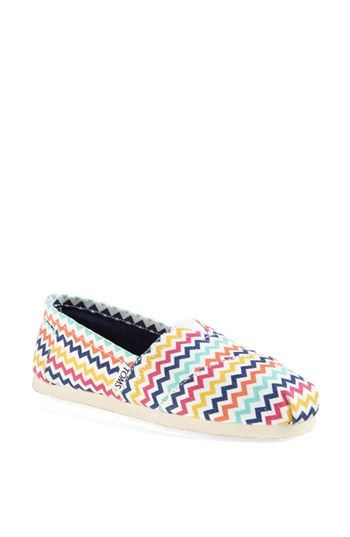 TOMS 'Classic - Jonathan Adler' Slip-On (Women) available at #Nordstrom Would be so cute with skinnies or khaki shorts