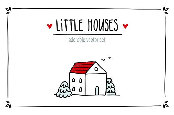 Little Houses ♥ Vector set by Zhe Vasylieva on @creativemarket  --   FREE until Sunday, 08/06/2017.