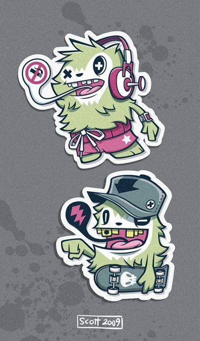 Yeti Stickers by cronobreaker on deviantART