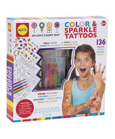 Take a look at this Sweet & Sparkle Tattoos Set by ALEX on #zulily today!