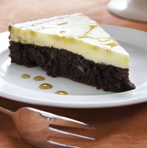 Melkesjokolade Brownie ostekake