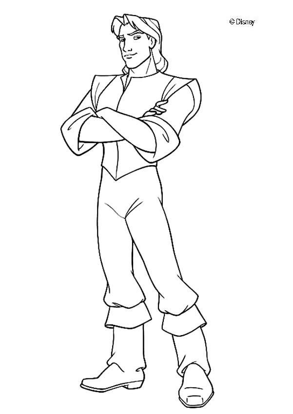 pocahontas coloring pages captain john smith from pocahontas
