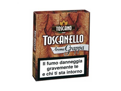 Toscanello Aroma Grappa highlights the unique flavor of the Italian national liquor combined with the highly desirable flavor of Italian cigars. If you enjoy grappa or Toscano cigars, these wonderful flavored cigars embody the best aspects of both.