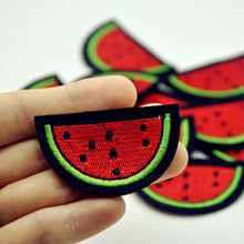 1Pcs Watermelon Patch for Clothing Iron on Embroidered Sew Applique Cute Patch Fabric Badge Garment DIY Apparel Accessories(China (Mainland))